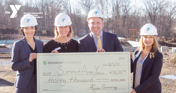 Summit Area YMCA Receives $150,000 grant from Investors Foundation in support of Capital Campaign
