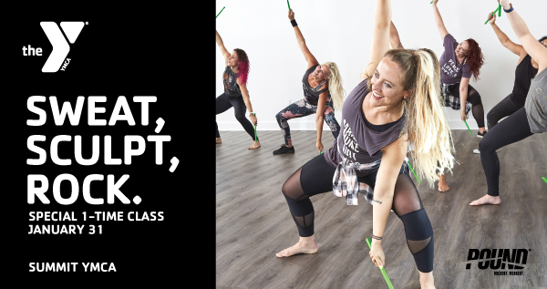 Special 1-Time POUND Class at the Summit YMCA