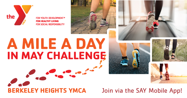 A Mile A Day in May Challenge at the Berkeley Heights YMCA