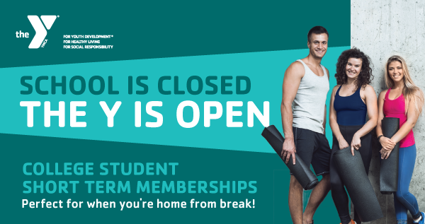 School Is Closed, The Y Is Open! Special College Student Membership Deal