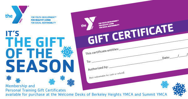 What's the Gift of the Season? YMCA Gift Certificates!