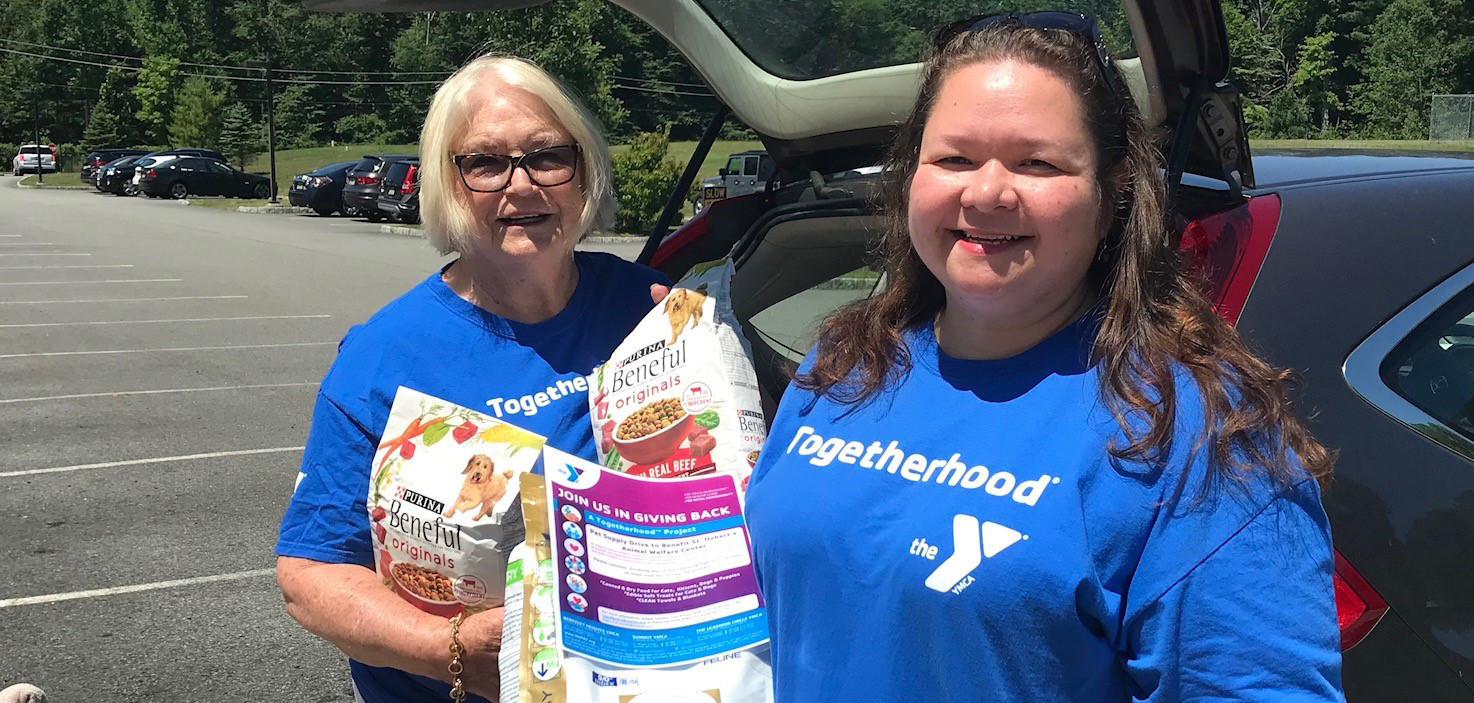 Summit Area YMCA Togetherhood Charity Drive Collects Over 15 Bags of Provisions for St. Hubert's