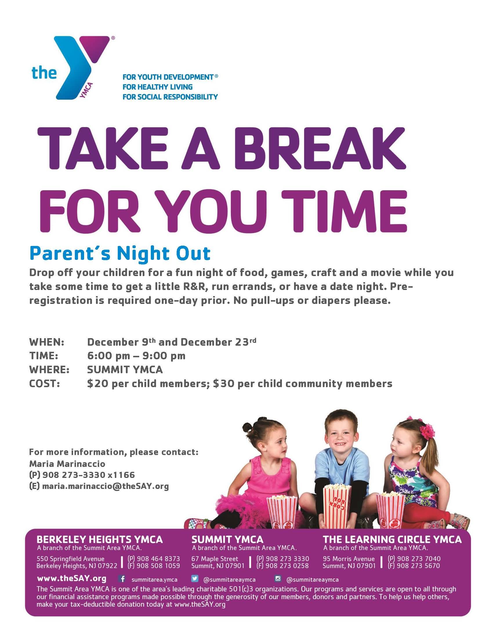 parent night flyer